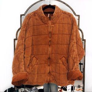 Free people NWT dolman quilted coat burnt orange